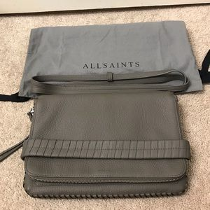 Unused All Saints clutch/messenger bag